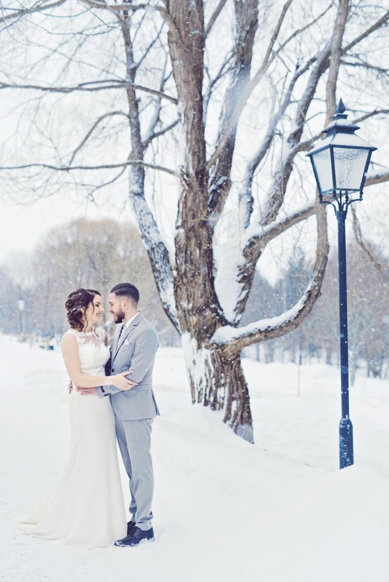 Bröllopsfotograf Umeå vinterbröllop
