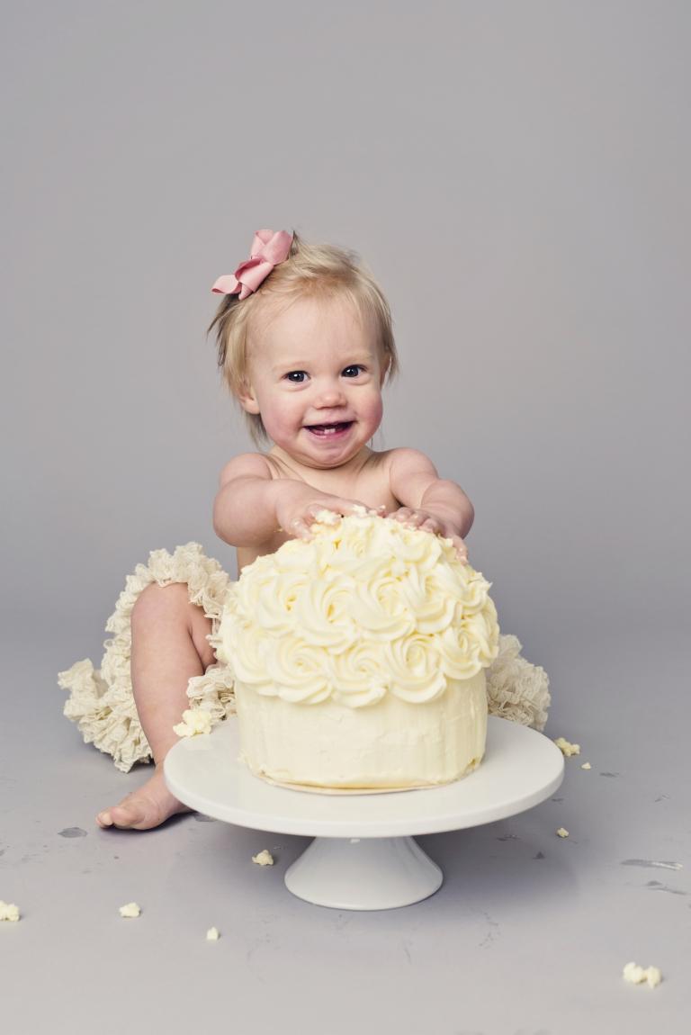 smash the cake fotografering 1års foto umeå