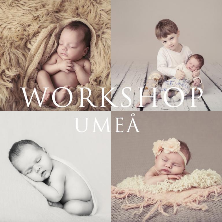 Fotograf Umeå workshop newbornfotografering bebisfotografering