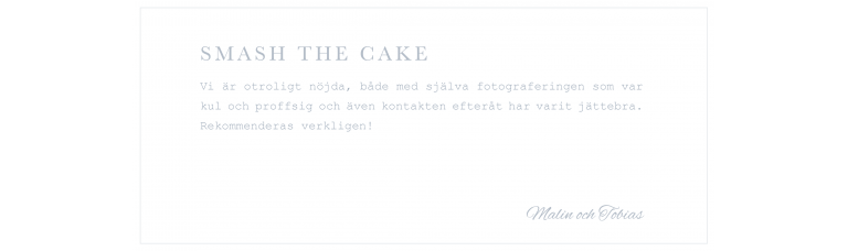 Bästa fotografen umeå recension smash the cake